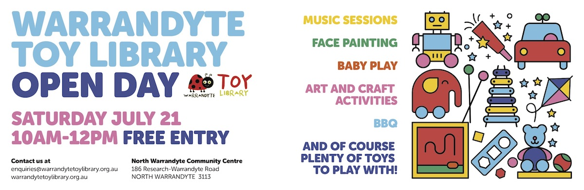 Warrandyte toy library Open Day